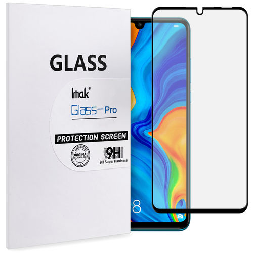 Full Coverage Tempered Glass Screen Protector for Huawei P30 Lite - Black